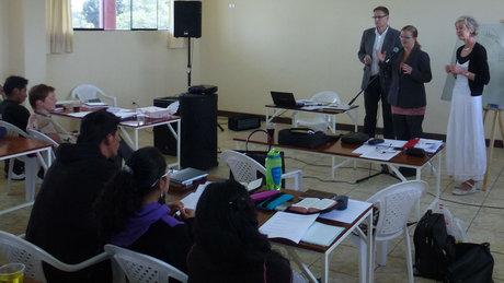 Møte med medier og misjon i Peru